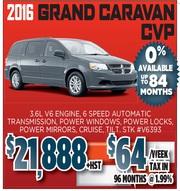 2016 Grand Caravan CVP