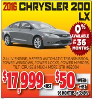 2016 Chrysler 200 LX for Sale Toronto