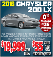 2016 Chrysler 200 LX for Sale in Toronto