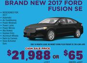 Brand New 2017 Ford Fusion SE Toronto
